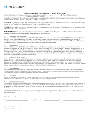 Printable Mutual Non Disclosure Agreement Meaning Fill Out