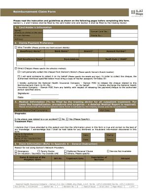 Thiqa Reimbursement Form Fill Online Printable Fillable Blank