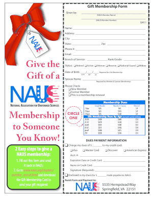 Editable gift for someone who wrote a letter of recommendation gift membership form national association for uniformed services negle Choice Image