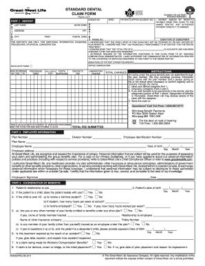 dental claim form