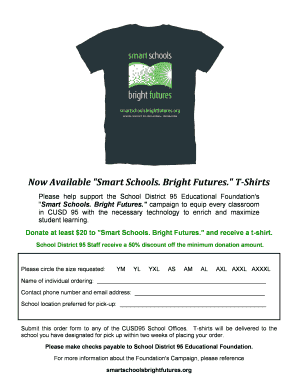 T Shirt Order Form Doc - Fill Online, Printable, Fillable, Blank ...