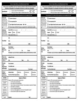 Bill Of Sale Form Iowa Voter Registration Form Templates ...