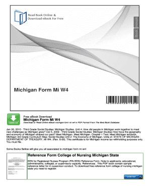 Bill Of Sale Form Michigan Form Mi-w4 Templates - Fillable ...