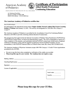certificate of participation american pdf form