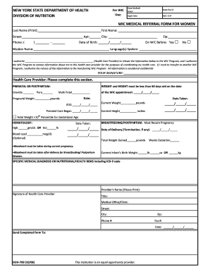Fillable Online warrencountyny 2013-county.pdf. WIC Medical ...