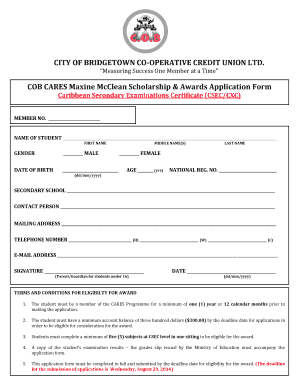 Scholarships Applications Forms - Fill Online, Printable, Fillable ...