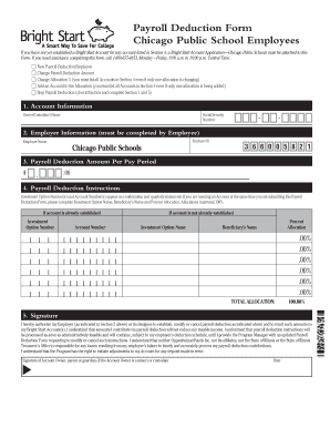 Payroll Deduction Form - Bright Start College Savings