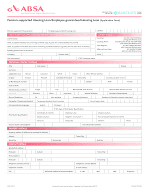Absa loan application form fill online printable fillable blank absa loan application form accmission Images