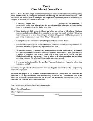 Esthetician Treatment Consent Form - Fill Online, Printable ...