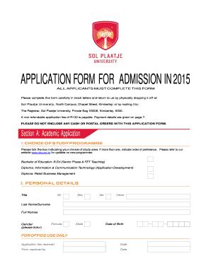 sol plaatje university application form 2018 fill online. Black Bedroom Furniture Sets. Home Design Ideas