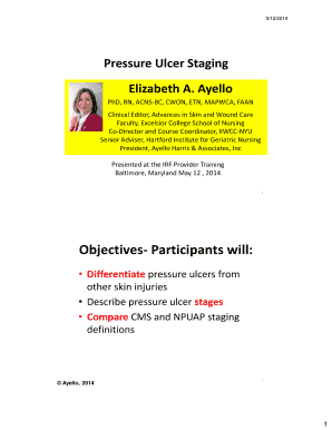 Pressure Ulcer Staging Fill Online, Printable, Fillable