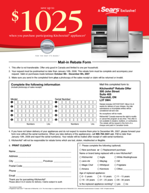 Fillable Online When You Purchase Participating Kitchenaid