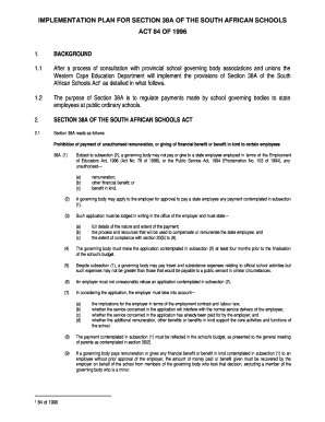 IMPLEMENTATION PLAN FOR SECTION 38A OF THE SOUTH bb - wced pgwc gov