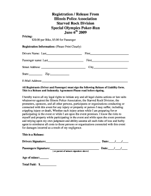 Fillable Online ipacops 2009 Poker-run Release form - Illinois ...