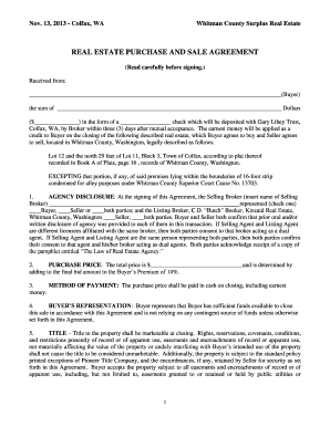 Bill Of Sale Form Idaho Real Estate Purchase And Sale Agreement Form