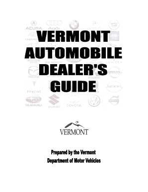 Fillable Online Dmv Vermont Dealer Guide Part 1 Vermont Department