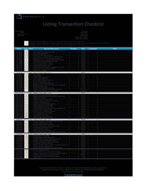 real estate transaction coordinator checklist fill. Black Bedroom Furniture Sets. Home Design Ideas