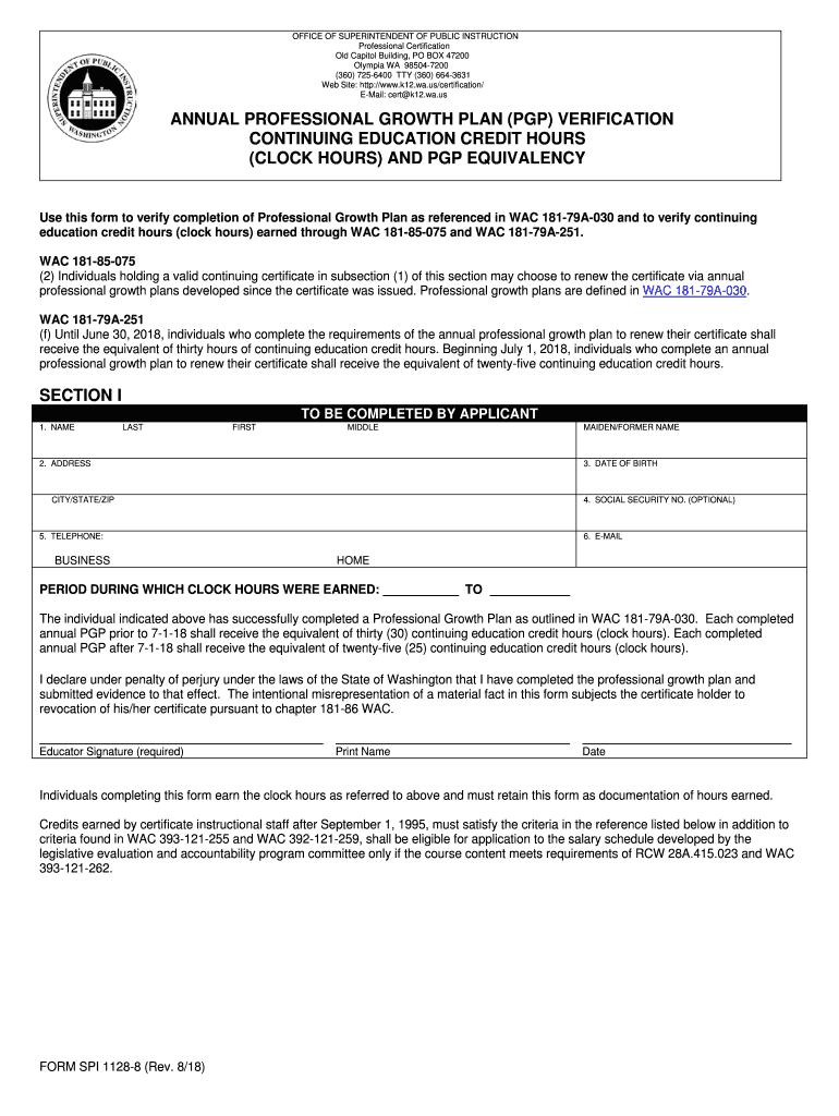 form 1128 spi ospi wa forms