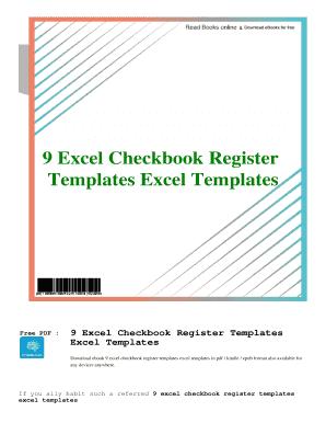 Fillable Online Pdf 9 Excel Checkbook Register Templates Excel Templates 9 Excel Checkbook Register Templates Excel Templates Free Pdf Ebook Download Fax Email Print Pdffiller