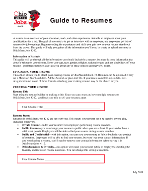 Fillable Online How To Write A Resume Summary Statement Examples
