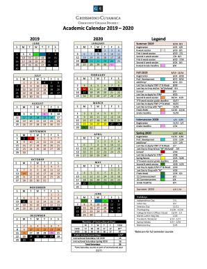 Citrus College Calendar 2021 Fillable Online Academic Calendar 2020 2021   Citrus College