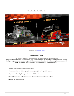 Fillable Online Truck Racer - Download game PS3 PS4 RPCS3 PC free Fax Email  Print - PDFfiller