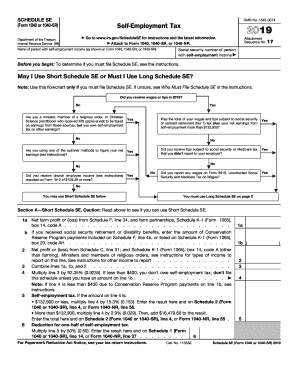 Form 1040, Schedule SE - Internal Revenue Service