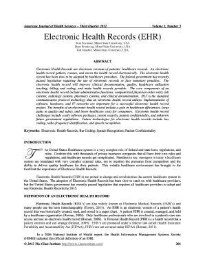 electronic medical records definition - Fillable Form & Document Templates to Submit  medical