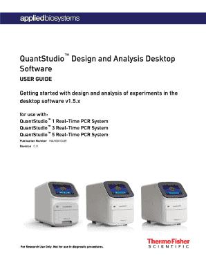 Fillable Online Quantstudio Design And Analysis Desktop Software User Guide Pub No Man0010408 C 0 Fax Email Print Pdffiller