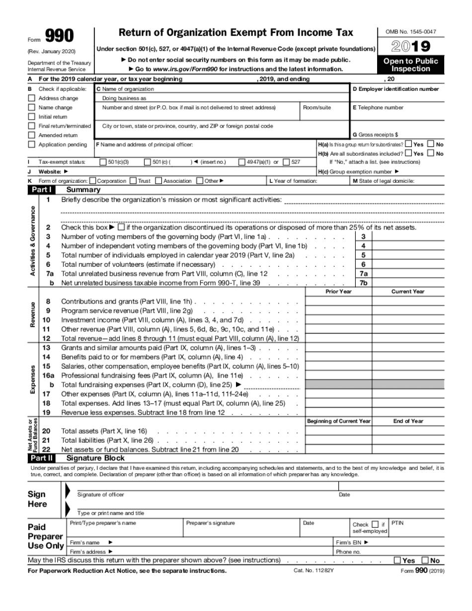 Form IRS-990