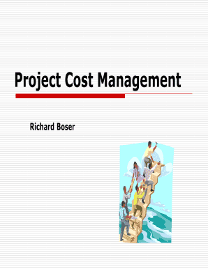 Project Cost Management - Parkland College