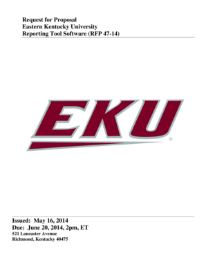 fillable online request for proposal eastern kentucky university