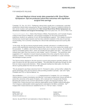 Fillable Online Download this press release as a  pdf - Zipline
