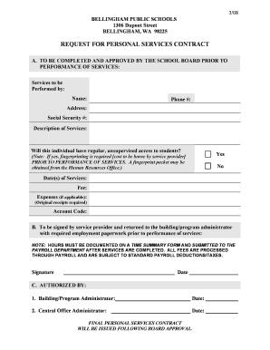 Personal Services Contract Form - Bellingham Public Schools -  bellinghamschools