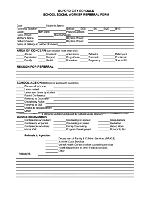referral form for social workers fill online printable fillable blank pdffiller. Black Bedroom Furniture Sets. Home Design Ideas