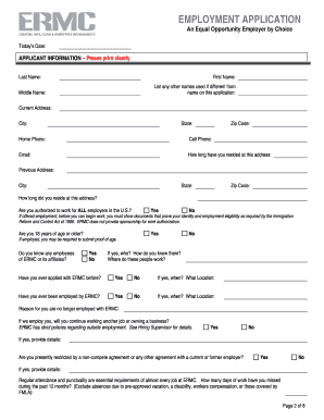 ermc application form