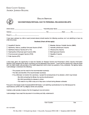 Fillable Online Religious exemption letter.pdf - Knox County ...