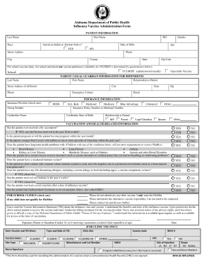 Fillable Online images pcmac PEEHIP IMM 66 Influenza Fill-in Form ...