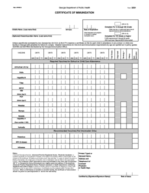 Form 3231 fill online printable fillable blank pdffiller preview of sample georgia certificate of immunization form 3231 altavistaventures Gallery