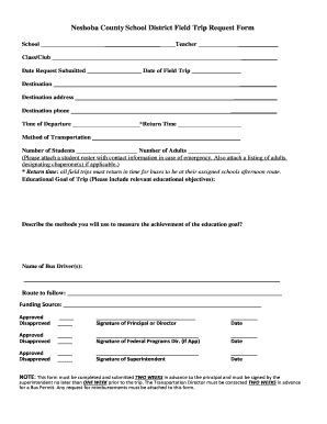 Jefferson County Schools Field Trip Request Form - images pcmac