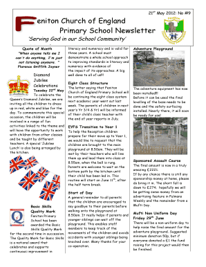 Eniton Church of England Primary School Newsletter Newsletter