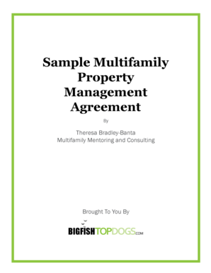 Sample Multifamily Property Management Agreement