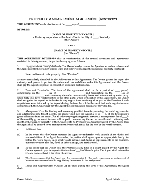 free property management agreement pdf