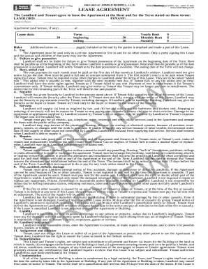Bill Of Sale Form New York Apartment Lease Agreement Form Templates - Apt lease agreement template