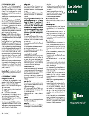 Fillable td cash credit card - Edit, Print & Download Form