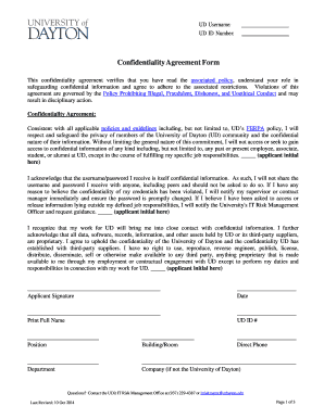 Confidentiality Agreement Form Fill Out Online Forms
