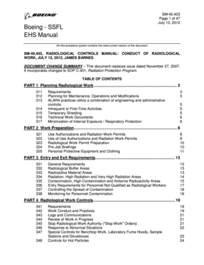 fillable online emcbc doe sm 40 403 radiological controls manual rh pdffiller com Table of Contents Chicago Style MSDS Table of Contents Template