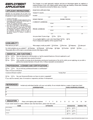 EMPLOYMENT APPLICATION - Coates Roofing Company Inc
