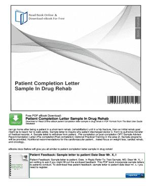 letter sample rehab fill online printable fillable blank pdffiller
