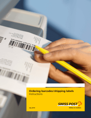 Ordering barcodes/shipping labels; Instructions - Swiss Post
